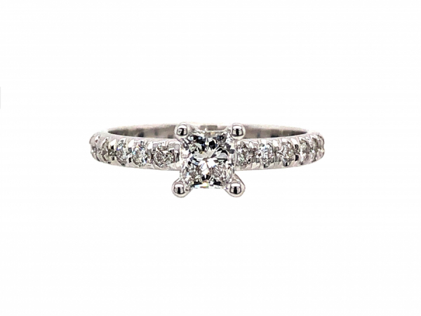 14 KARAT WHITE GOLD DIAMOND ENGAGEMENT RING by The Hunt House Custom Jewellery