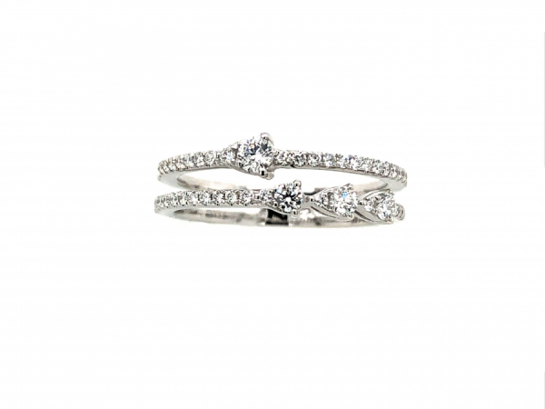 14 KARAT WHITE GOLD DIAMOND BAND by The Hunt House Custom Jewellery