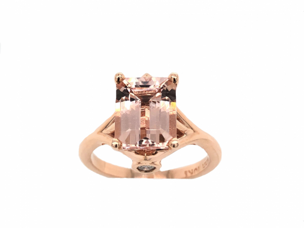 14 KARAT ROSE GOLD MORGANITE RING by The Hunt House Custom Jewellery