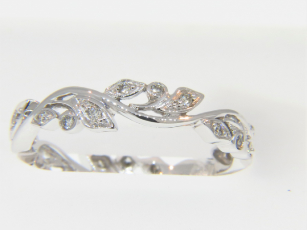 DAINTY DIAMOND BAND by The Hunt House Custom Jewellery