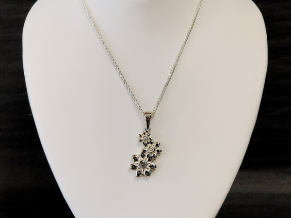 Sterling Silver Daisys and Diamonds by The Hunt House Custom Jewellery