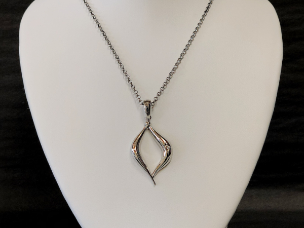 Sterling Silver Freeform pendant  by The Hunt House Custom Jewellery