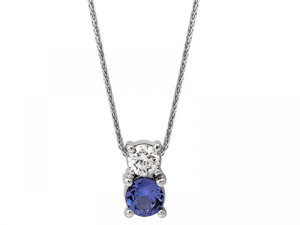 Tanzanite and Diamond Pendant by The Hunt House Custom Jewellery